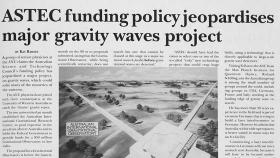 An article in ANU Reporter in 1991 on the gravitational waves project.