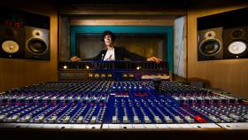 Dr Samantha Bennett in one of the ANU School of Music recording studios. Photo by Stuart Hay.