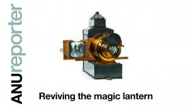 Cover ANU Reporter, shows magic lantern