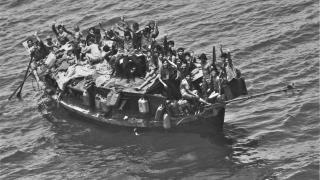 Vietnamese boat arrivals, or boat people, in the 1980s.