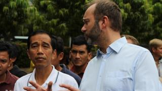 Joko Widowi (left) won the Indonesian election.