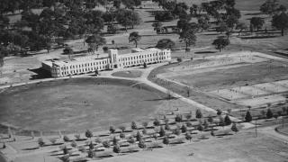 The former Canberra High School building in 1949-1950. Photo courtesy of ANU Archives.