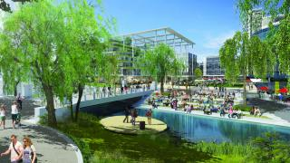 The reimagined Union Court and Sullivans Creek. Photo supplied.