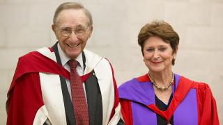Emeritus Professor Peter Baume AC and Dr Susan Ryan AO. Photo by Lannon Harley.