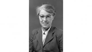 Professor Mary Fauriel Lockett, Professor of Pharmacology 1963-1972 © 1960, The University of Western Australia Archives 5092P, courtesy of Studio of Miles and Kaye.