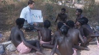 Boys Sunday school. Photo courtesy of Groote Eylandt Language Centre, Keith Hart collection.