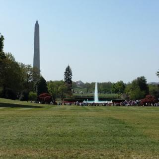 The view from the White House lawns. Photo by Jackson Busse.