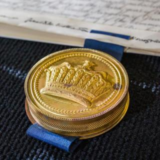 One of Professor Frank Fenner's medals. Photo by Stuart Hay.