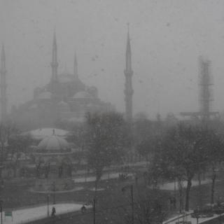 Istanbul in the snow.