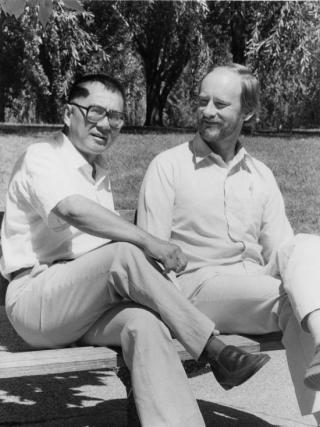Hal Hill (right) was a former Head of the Indonesia Project.