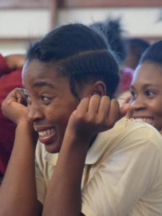 The suspense of students in Lusaka, Zambia.