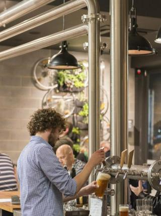 Small breweries and a cafe culture have grown strongly in Canberra.